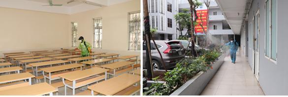 Gần 2.000 sinh viên Uneti quay trở lại trường học tập sau đợt nghỉ học do dịch bệnh Covid-19